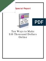 10 Ways to Make 10k Report