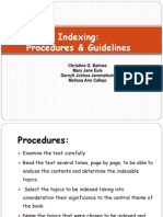 indexing procedure  guidelines