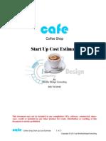 Coffee Shop Start Up Free Estimate