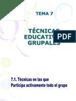 animación TEMA 7. TECNICAS EDUCATIVAS GRUPALES.ppt