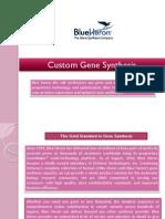 Custom Gene Synthesis