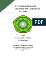 Pengertian Mikrobiologi, Bentuk Struktur Morfologi Bakteri