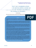 The Effect of Coordination Training in Developing Some of the Skills of Women Handball Players in Sweden
