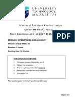 Resit Exams Mba2105.(Format)