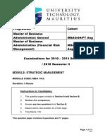 Strategic Management Mba