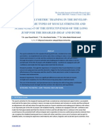 Effect of Polymetric Training in the Development of Some Types of Muscle Strength and Achieve-ment of the Effectiveness of the Long Jump for the Disabled (Deaf and Dumb)