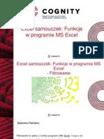 Cognity kurs excel - funkcje excela filtrowanie .pptx