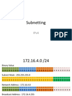 Subnetting and VLSM