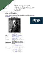 Pesan Albert Einstain