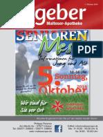 Ratgeber aus Ihrer Malteser-Apotheke – Oktober 2014