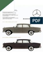 Mercedes-Benz Colour Chart 1961