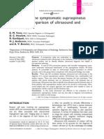Evaluation of Symptomatic Supraspinatus Tendon
