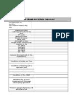 Tower Crane Inspection Checklist