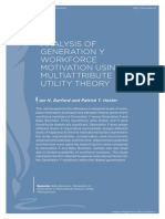 Analysis of Generation y Workforce Motivation Using Multiattribute Utility Theory