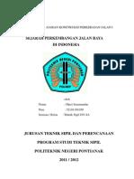 Harri Ismunandar - Sejarah Perkembangan Jalan Raya Di Indonesia Dan Jalan Raya PosA