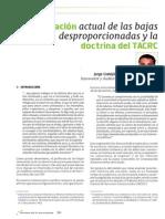 La regulacion actual de las bajas desproporcionadas y la doctrina del TACRC.pdf