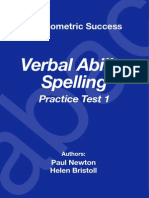 Psychometric Success Verbal Ability - Spelling Practice Test 1