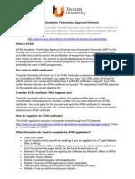 ATAS Information Sheet for Applicants