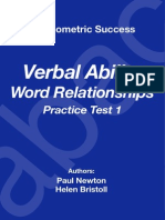 Psychometric Success Verbal Ability - Word Relationship Practice Test 1.pdf
