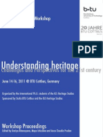 PhD Workshop Understanding Heritage (Cottbus, 2012)