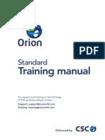 ORION-Standard Training Manual