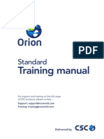 ORION-Standard Training Manual
