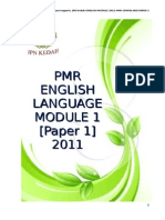 Pmr English Language Module 1 Paper 1