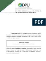 ACP Defensoria Publica da Uniao x CEF - Inicial - SE PROCEDENTE PRODUZIRÁ EFEITO ERGA OMNES - FGTS.pdf