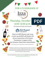 Pet Project Foundation Izza Pizzeria Event Oct9 2014
