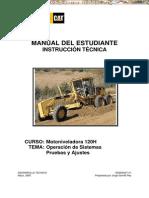 Manual Instruccion Tecnica Motoniveladora 120h Caterpillar