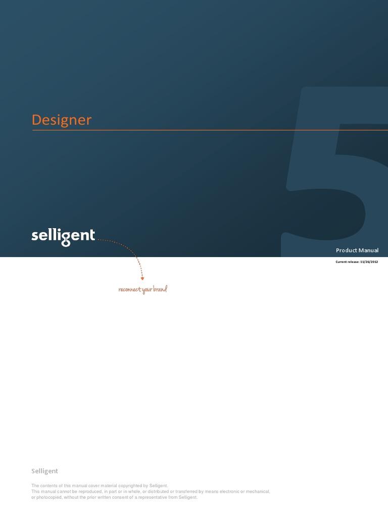 User Manual Selligent Designer en v5 0 | Sql | Tab (Gui)