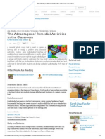 The Advantages of Remedial Activities in the Classroom _ EHow