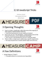 MeasureCamp - JavaScript Tricks