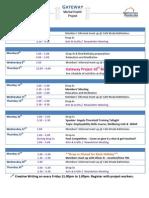 October Schedule 2014