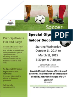 Cornwall Special Olympics - Soccer 2014