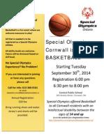 SOO Cornwall Basketball Flyer 2014