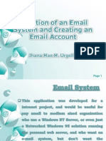 selection of an email system and creating an