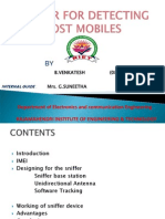 84796000 Sniffer for Detecting Lost Mobiles PPT