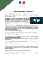 Communiqué de presse du CSFPT du 16 décembre 2009