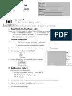 Appendix B3 Tobacco Use Questionnaire