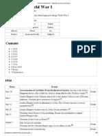 Timeline of World War I