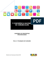 Caderno de Propostas PREJUDICADAS Eixo1