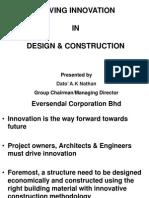 Driving Innovation in Design & Construction