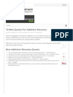 Best Quotes for Addiction Recovery