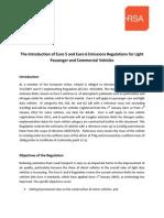 Euro 5 and Euro 6 Emissions Reg Light Passengercommvehicles