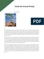 Pengertian Ekologi Dan Konsep Ekologi