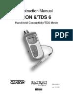 Oakton Con 6 Conductivity Meter Manual