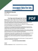 FPA 2014 Press Release