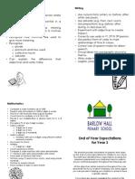 Parent Leaflet - Year 3