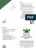 Parent Leaflet - Year 6